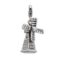 925 Silber Charm Windmühle zum Kombinieren