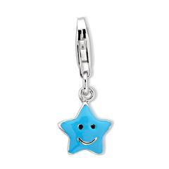 Exklusiver 925 Silber Stern Charm zum Einhängen