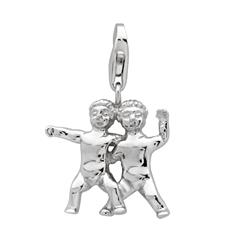 925 Silber Sternzeichen Charm Zwillinge