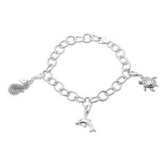 925 Silber Charm Armband Meerestiere CHS0001