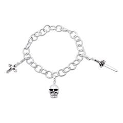925 Silber Charm Armband Gothic