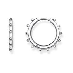 Creolen Dots aus 925er Silber