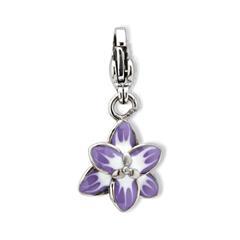 Edelstahl Charm Blume für Bettelarmbänder