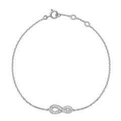 Armband 585er Weißgold 8 Diamanten 0,024 ct.