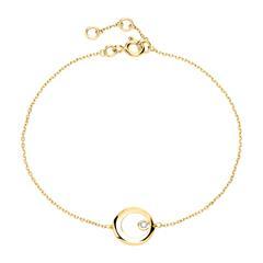 585er Goldarmband Kreis mit Diamant