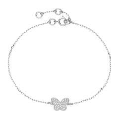Bracelet Butterfly In 14K White Gold With Diamonds
