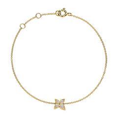 Armband für Damen aus 14K Gold mit Diamanten