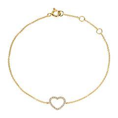 Ideal: Herzarmband Damen 585er Gold Brillanten