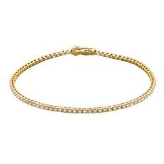 Tennisarmband aus 585er Gold mit Diamanten