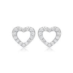 Kauf-Tipp: Weissgold Herzohrstecker Diamanten 0, 15 Deal
