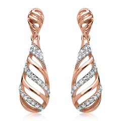 Diamant Ohrringe roségold 54 Diamanten 0,114 ct.