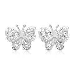 Ohrringe 750er Weißgold 24 Diamanten 0,07 ct.