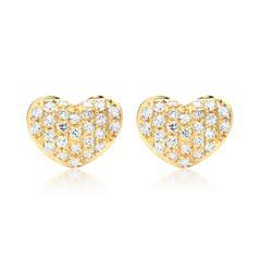 Ohrringe 750er Gelbgold 52 Diamanten 0,20 ct.