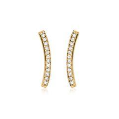 Ohrringe Gelbgold 24 Diamanten 0,09ct.