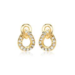 Gelbgold-Ohrstecker 26 Diamanten 0,09ct.