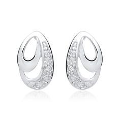 Ohrringe 585er Weißgold 2 Diamanten 0,0104 ct.