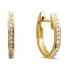 585 Gold Hoops With Diamonds
