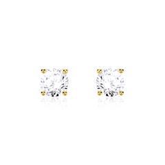 585er Gold Ohrstecker mit Diamanten