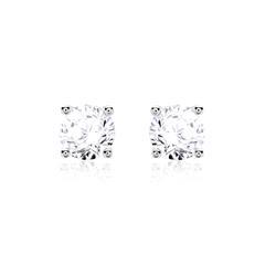 585er Weißgold Ohrstecker mit Diamanten