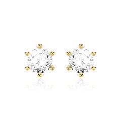 Ganz klar: Ohrstecker 14k Gold Diamanten Hit