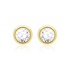 Damen Ohrstecker 585er Gold Diamanten