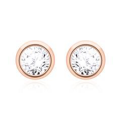 Ohrstecker für Damen aus 14K Roségold mit Diamanten