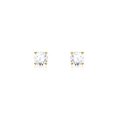 Ladies' Ear Studs In 585 Gold With Diamonds