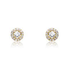 Diamant Ohrstecker aus 14-karätigem Gold