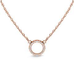 Halskette Kreis für Damen aus 18K Roségold