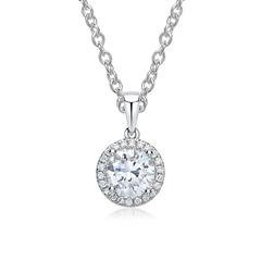 Kette 750er Weißgoldanhänger mit Diamanten