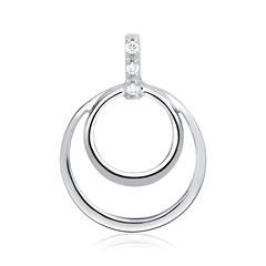 Kreis-Anhänger Weißgold 3 Diamanten 0,018 ct.