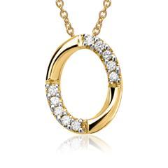 585er Gelbgold-Kette 10 Diamanten 0,07 ct.