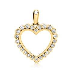 Anhänger 585er Gelbgold 24 Diamanten