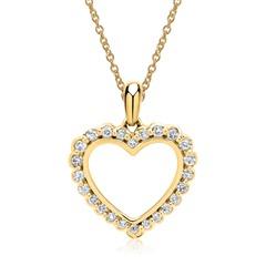 Gelbgold-Kette Anhänger 24 Diamanten 0,17 ct.