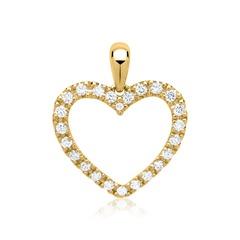 Entdeckt: Anhänger Gelbgold Herz 24 Diamanten 0, 25 Idee