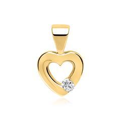Anhänger Herz 585er Gelbgold Diamant 0,052ct.