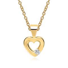 Kette Herz 585er Gelbgold Diamant 0 Hit, Gelegenheit 6080