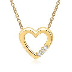 Kette 585er Gelbgold 3 Diamanten 0,033 ct.