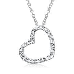 585er Weißgold-Kette 22 Diamanten 0,1408 ct.