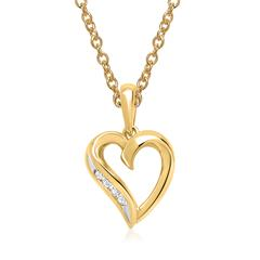 Kette 585er Gelbgold 4 Diamanten 0,0256 ct.
