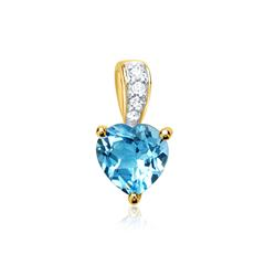 585er Gold-Kette Topas 0,94 ct. 4 Diamanten 0,0253 ct.