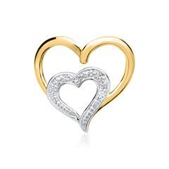 585er Gelbgold-Anhänger 6 Diamanten 0,0276 ct.