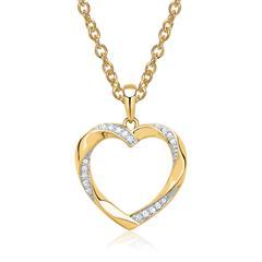585er Gelbgold-Kette Herz 19 Diamanten Deal