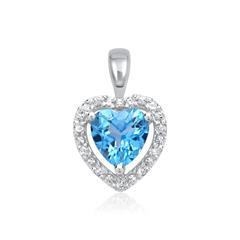 585er Anhänger 1 Topas Diamant 0,053 ct.