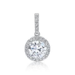 Diamantanhänger 0,62 ct gesamt 750er Weißgold
