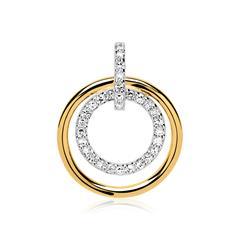 Anhänger Kreise 585er Gold Diamanten