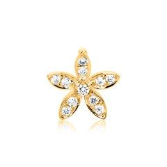 Blütenanhänger 585er Gold Diamant