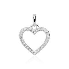 Diamantanhänger Herz aus 585er Weißgold