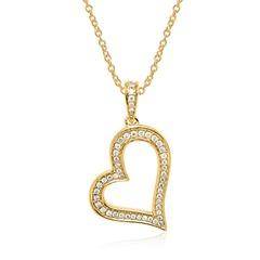 Kette und Herzanhänger aus 585er Gold mit Diamanten