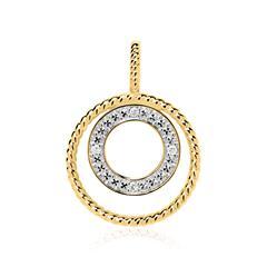 Kreisanhänger aus 585er Gold mit Diamanten